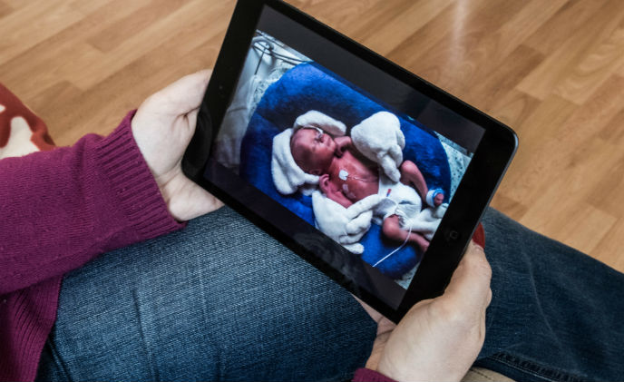 Bond between family and newborn strengthened with IP cameras