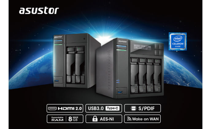 ASUSTOR launches new NAS featuring hardware and software enhancements
