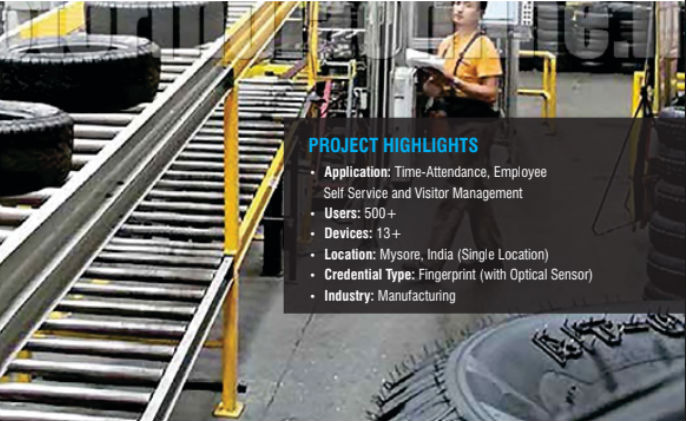 JK Tyre selected Matrix time-attendance solution to improve productivity at premises