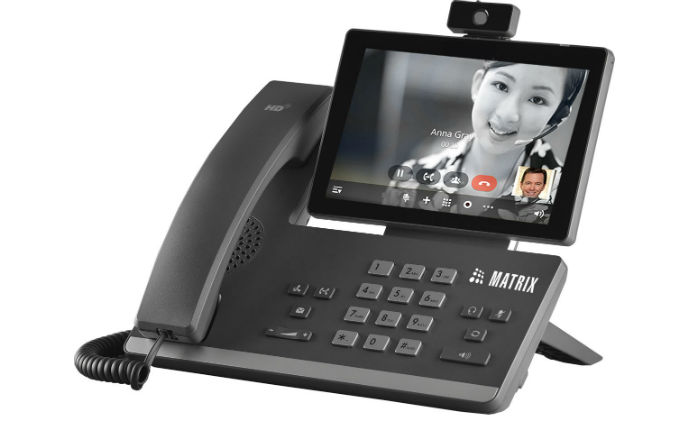 Matrix launches its first ever video IP desk phone