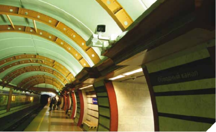 St. Petersburg Underground's intelligent video surveillance by Axis