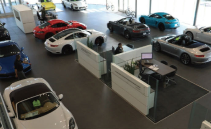 IDIS non-intrusive surveillance for a luxury car dealership