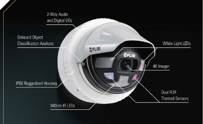 FLIR introduces multiple Saros dome outdoor perimeter security cameras