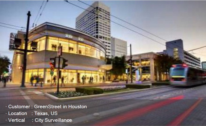 Hanwha video surveillance solutions watch Houston's entertainment area