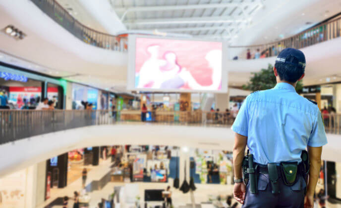 What's the importance of integrated solutions for mall security?