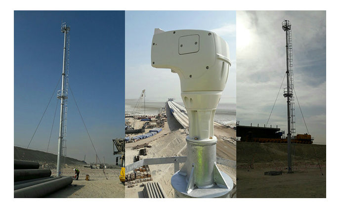Videotec chosen to monitor a strategic bridge in Kuwait