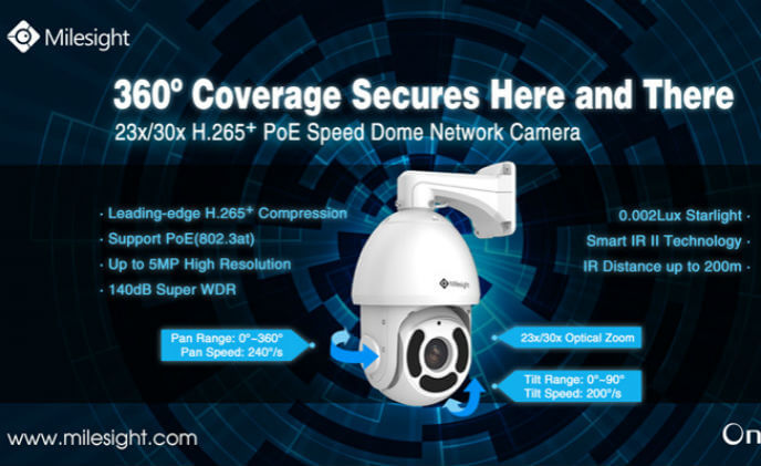 Milesight introduces the new H.265+ PoE speed dome network camera