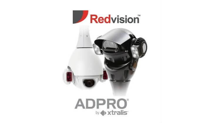 Redvision's X-SERIES rugged PTZ domes now integrate with Xtralis ADPRO XOa