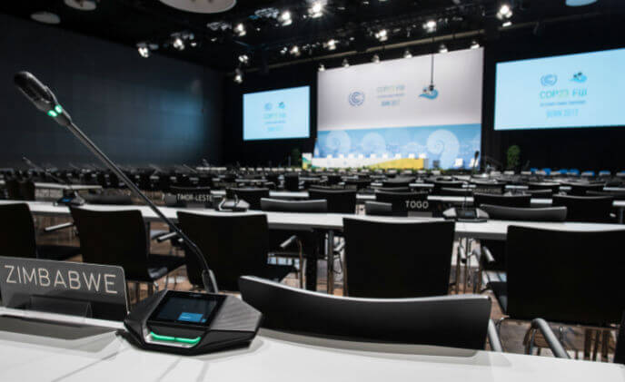 22,000 delegates over two weeks:  UN event with conference technology from Bosch