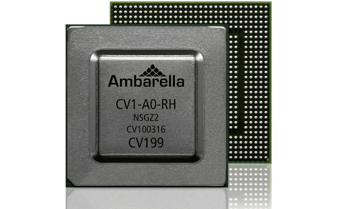 Ambarella introduces CV1 4K stereovision processor with CVflow computer vision architecture