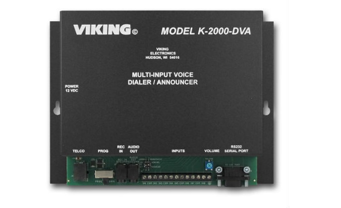 Shorten response times with Viking Electronics K-2000-DVA voice alarm dialer or store caster