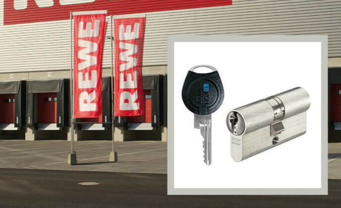 ASSA ABLOY CLIQ locking system protects REWE's new logistics center in Germany