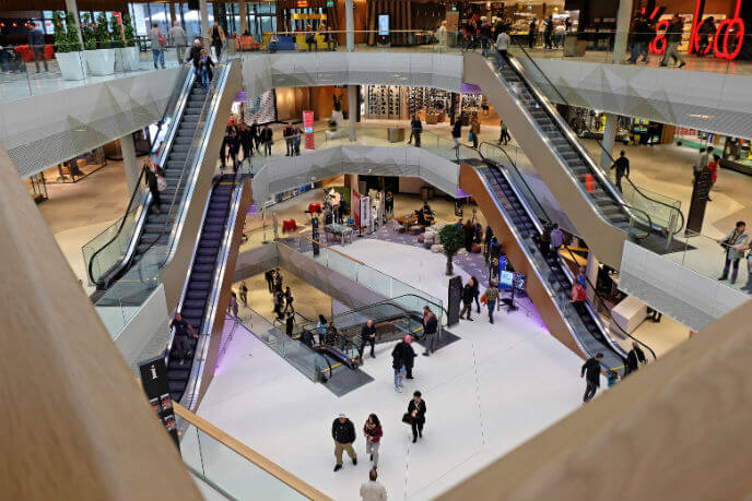 Integrated access control solution from Bosch for the mall of Switzerland