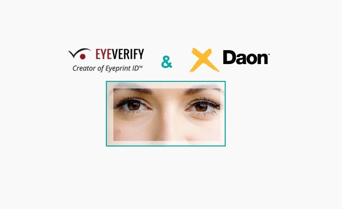EyeVerify and Daon to provide eyeprint biometrics technology