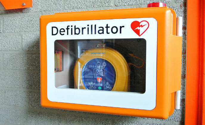 Luminite OCULi used in defibrillator cabinet