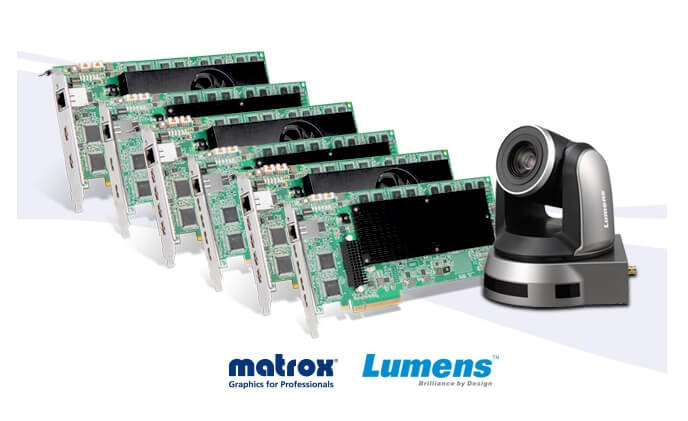 Matrox and Lumens announce SRT H.264 streaming compatibility from PTZ Camera to display
