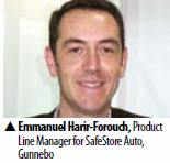 Emmanuel Harir-Forouch, Product Line Manager for SafeStore Auto, Gunnebo