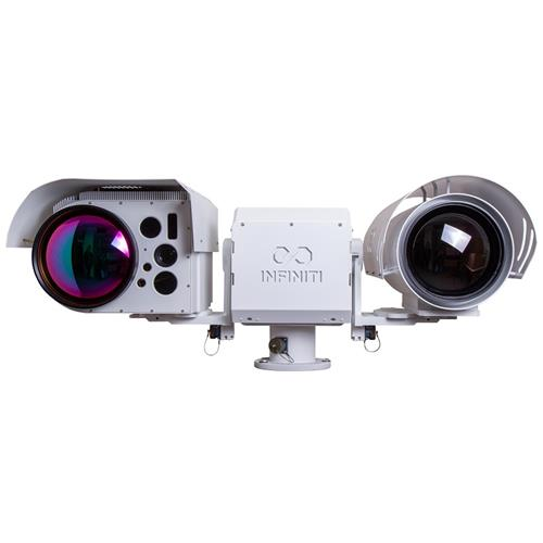 Long Range HD SWIR Short Wave Infrared Camera + HD Thermal Visible Gyro PTZ Day Night Camera System