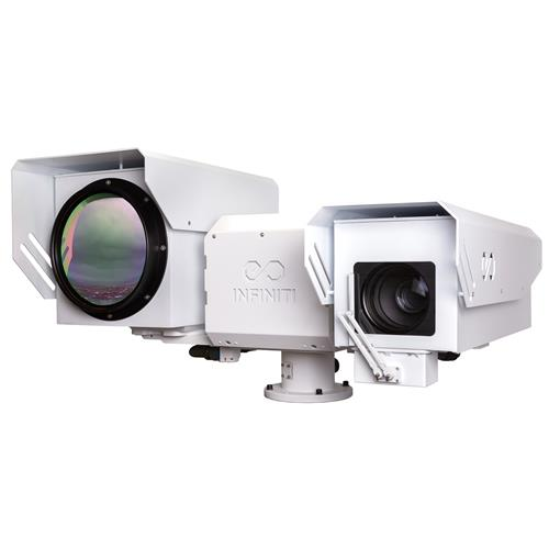HD Ultra Long Range MWIR Cooled Thermal IR Camera Border Security SWIR LRF Visible LRF auto track