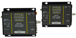 OSD816T / 816R Digital Fiber Optic Video + Data Modem Pair