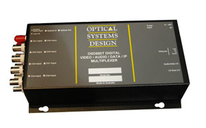 OSD860 Digital 4/8 Channel Video / Audio / Data / IP Multiplexer
