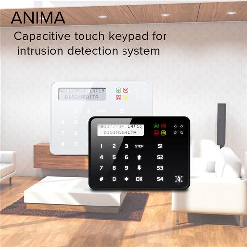 ANIMA - Capacitive touch keypad for intrusion detection system
