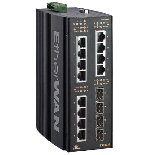 EX73900 Series Hardened Managed 16-port Gigabit Ethernet Switch