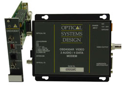 OSD430T / 430R FM Fiber Optic Video, Audio & Data Modem Pair