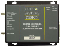 OSD730 Full Duplex 4 Channel Digital Audio / Data Modem