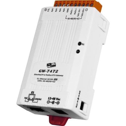 ICPDAS EtherNet/IP to Modbus RTU/TCP Gateway GW-7472