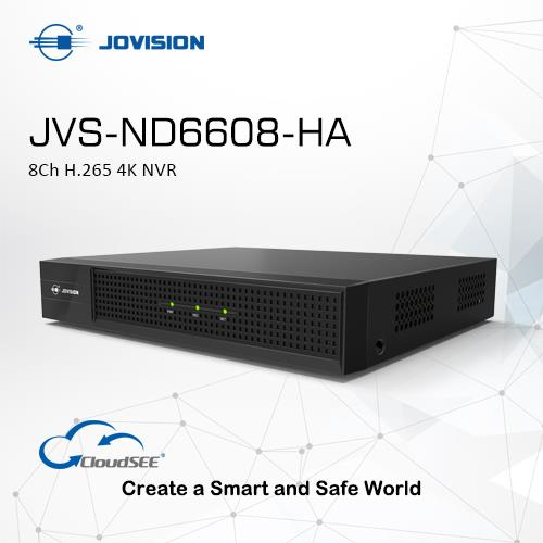 8Ch H.265 4K NVR(Network Video Recorder)