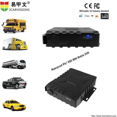4 CHANNEL+1IPC WATERPROOF IP67 SSD G-SENSOR H. 264 MOBILE VEHICLE DVR (GPS+3G/4G+Wi-Fi) JH0