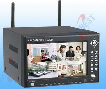 H.264 Stand Alone DVR-W8004AP(wireless; with 7