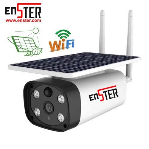 Enster Built-in 18650 Lithium Battery Solar Energy Outdoor Wireless Low Power Smart Wifi Camera