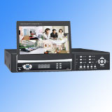 4CH H. 264 DVR with 7'''' Slip TFT Monitor(SKY-9504T)
