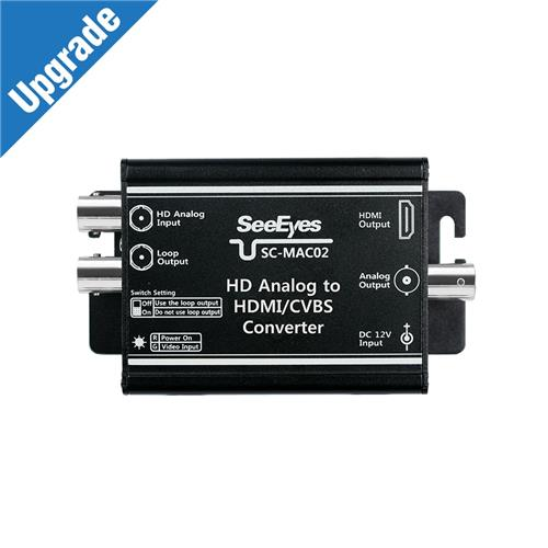 [SC-MAC02] HD Analog (AHD, TVI, CVI up to 5MP) /CVBS to HDMI/CVBS Converter
