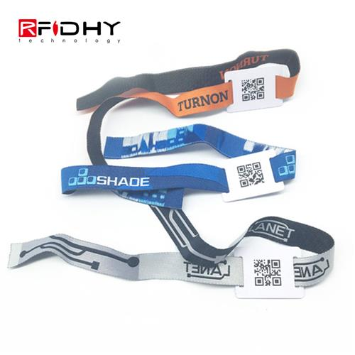 Special Design re wearable Event RFID Woven Lock Wristband at Music Festivals