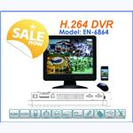 "4CH H.264 Stand-Alone Network DVR  With 15"" LCD"