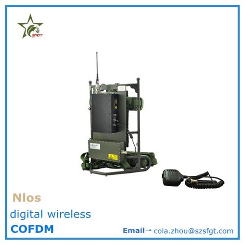 Manpack military COFDM Wireless Video Transmitter