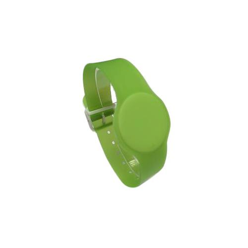 Batag RFID PVC Wristband with Adjustable Band Green WLP-010M-0N (IC Chip: TK4100 125Khz)