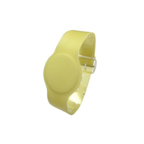Batag RFID PVC Wristband with Adjustable Band Yellow WLP-010H-0N (IC Chip: TK4100 125Khz)