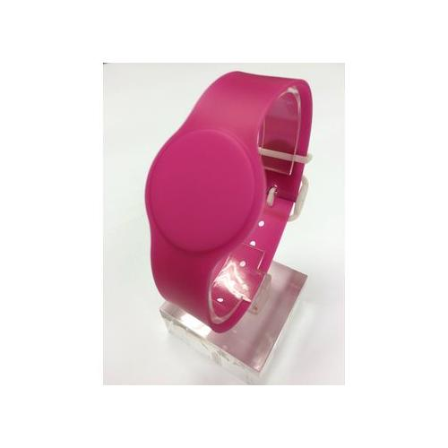 Batag RFID PVC Wristband with Adjustable Band Rosy Pink WLP-011P-0N (IC Chip: TK4100 125Khz)