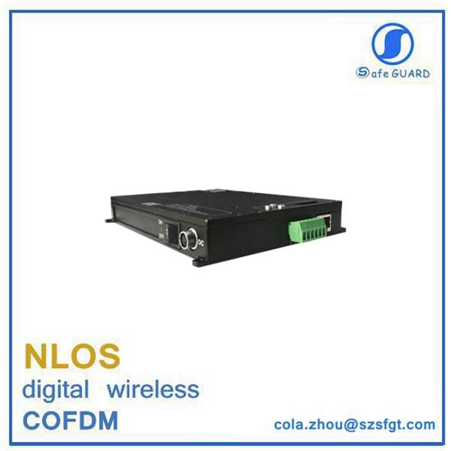 tdd_cofdm long range wireless mesh RS232/485 data video transceiver