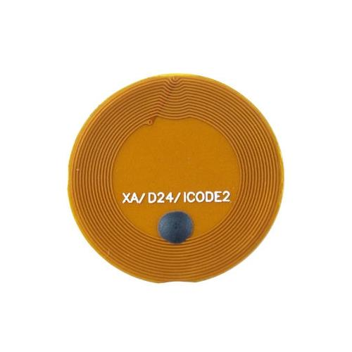 RFID Inlays with PI (polyimide OD24mm, with Adhesive I CODE SLIX 13.56Mhz Frequency