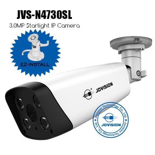 3.0MP Starlight EZ-Install Network Camera (IP Camera)