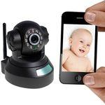 H.264 HD 720P Pan/Tilt wifi IP camera with QR scanning code, iPhone/Android immediate scan and view
