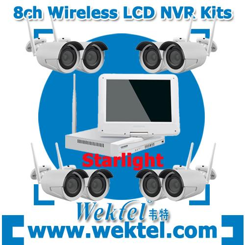 LCD Monitor Wireless NVR Kits