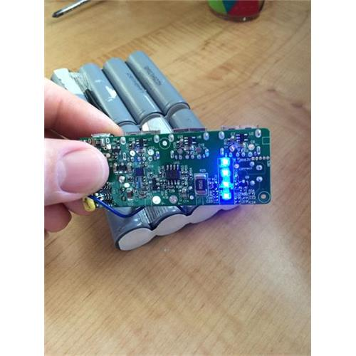 Rechargeable Li-ion Battery Pack with LED Indicators from PERMA Battery Pack