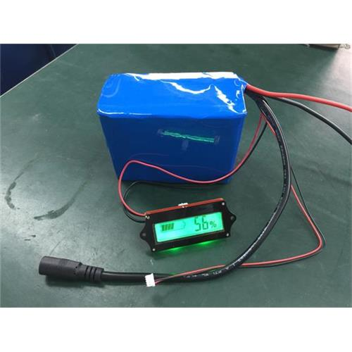 Rechargeable PERMA Battery Pack with LCD Display Showing the Remaining Battery Power