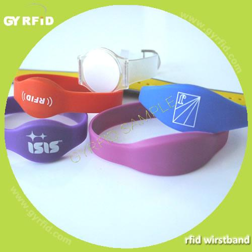 Waterproof rfid wristbands,with mifare 4k and hitag